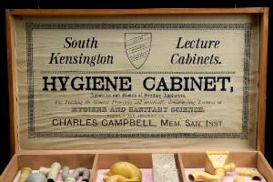 view Models of hygienic sanitary appliances, England, 1895
