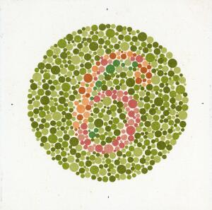 view Eight Ishihara charts for testing colour blindness, Europe, 1917-1959