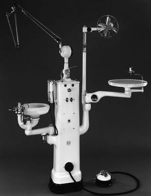 view 'Rathbone' dental unit, England, 1946-1955.