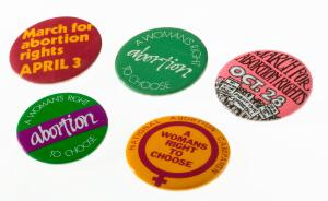 view Five National Abortion Campaign badges, United Kingdom, 1970