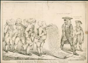 view 'The Surgeons Petition or The Barbers Triumphant', print pub