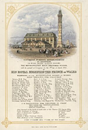 view Invitation to the opening of Crossness Pumping Station, Lond