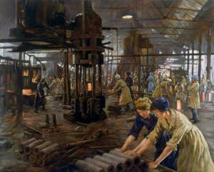 view 'The Munitions Girls' oil painting, England, 1918