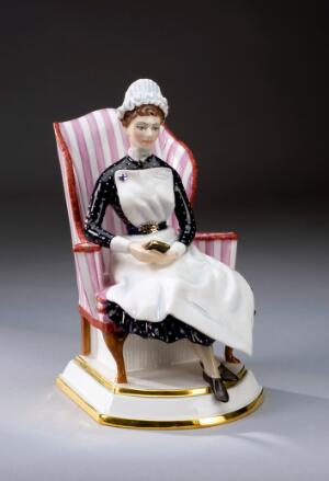 view Porcelain figurine of a nursing sister of the Nightingale Tr