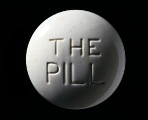 view Model of a contraceptive pill, Europe, c. 1970