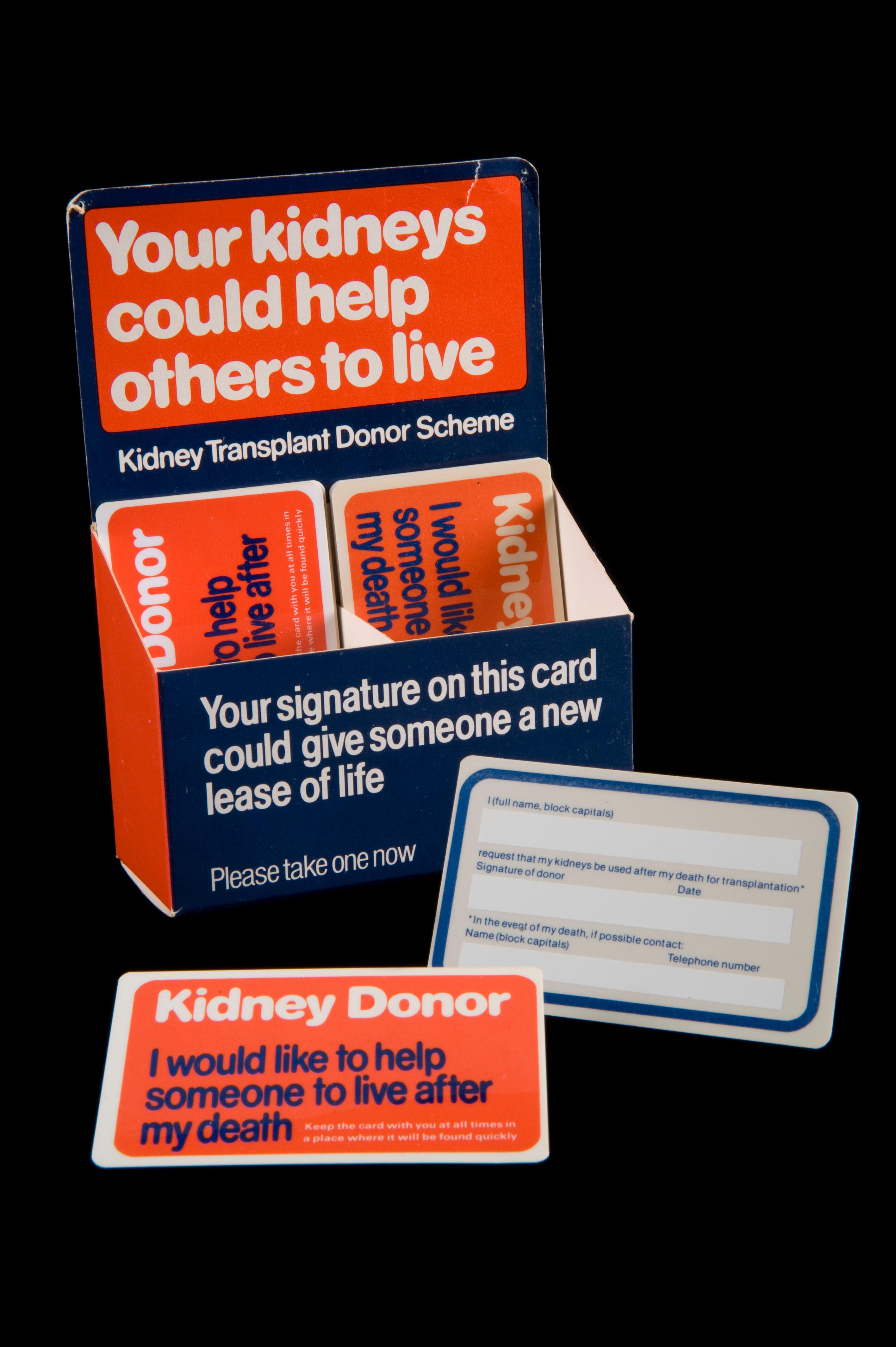Kidney donor cards, England, 1971-1981 | Wellcome Collection