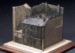 view Model of a slum court, England, 1900-1920