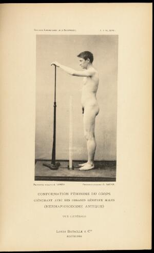 view Photograph: Hermaphrodite figure