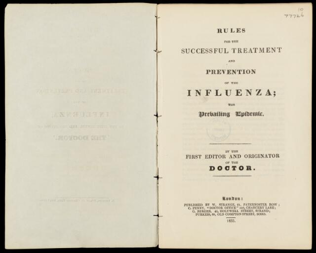 Rules for the successful treatment...of influenza
