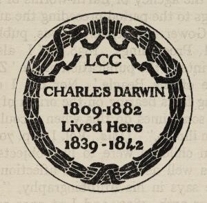 view Plaque to commemorate Charles Darwins residence.