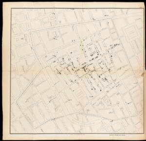 view Map showing deaths from Cholera in Broad Street...