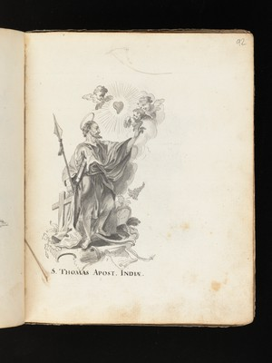 view Allegorical and sacred subjects, and hermits. Drawings, ca. 1740.