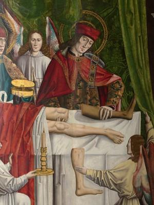 view A verger's dream; Saints Cosmas and Damian, 1495