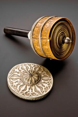 view Buddhist prayer wheel, Tibet, 1601-1900