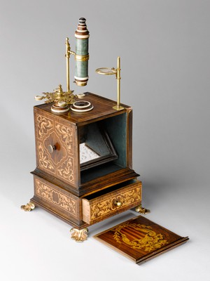 view Chest microscope formerly owned by Pope Benedict XIV, Italy,