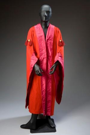 view Professor Sir Alexander Ogston's MD gown, Edinburgh, Scotlan