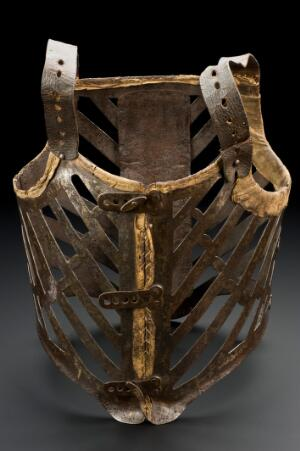 view Orthopaedic corset to fit adult male, 1601-1800
