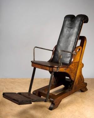 view Adjustable dental chair, England, 1701-1800.