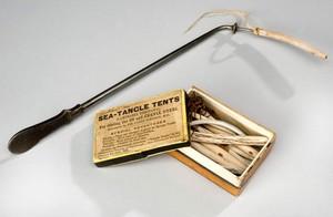 view Box of laminaria tents, United Kingdom, 1871-1900