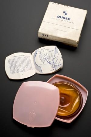 view 'Durex' diaphragm, England, 1955-1970