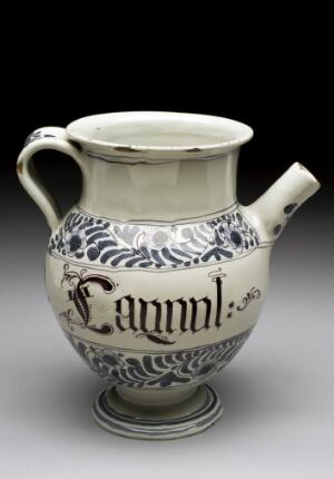 view Syrup jar for Oil of Puppy Dogs, Italy, 1701-1800