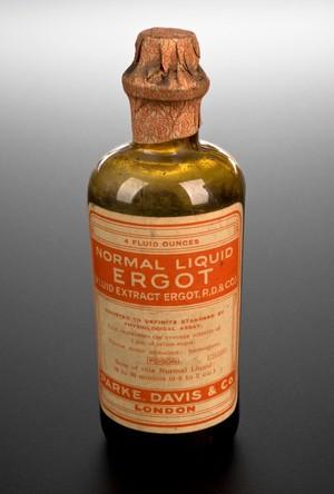 view Bottle of ergot extract, London, England, 1891-1950