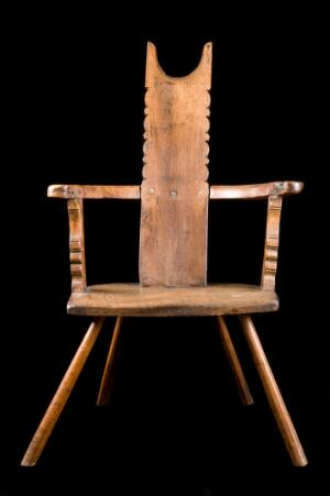view Barber's chair modified for dental extractions, England