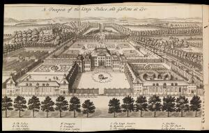 view View of the King's Palace and gardens at Loo
