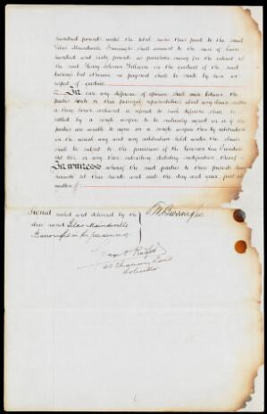 view Articles of partnership S.M. Burroughs to H.S. Wellcome 1880