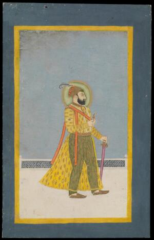 view Farrukhsiyar. Gouache painting.