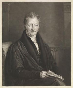 view Thomas Robert Malthus. Mezzotint by John Linnell, 1834.