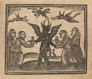 view Wax dolls being given to the devil.