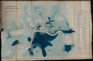 view Cholera Map of the Metropolis 1849