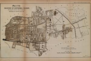 view Map of the Parish of Bethnal Green, Shewing the Cholera Mist in 1848-1849.