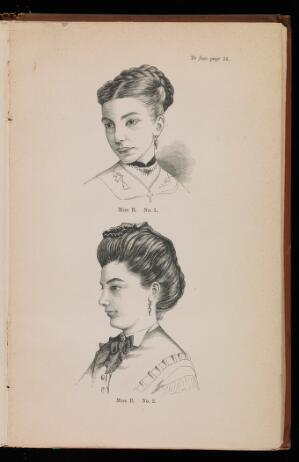 view Two Woodcuts showing Miss B before and after treatment