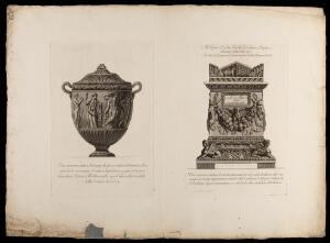 view Two etchings of urns by G.B. Piranesi