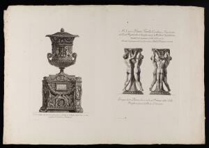 view Two etchings by G.B. Piranesi (a marble vase and stand)