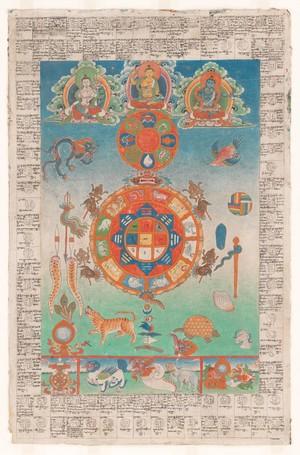 view Or Tibetan 114 - Bloodletting chart, Tibet