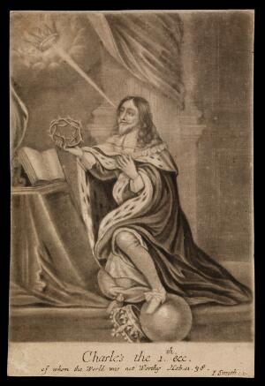 view King Charles I. Mezzotint by J. Smith.