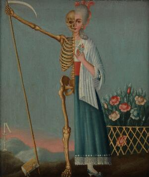 view Life and death. Oil painting.