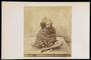 view A fakir or sadhu. Photograph by E.D. Lyon.