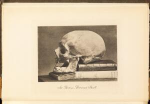 view Photograph of Sir Thomas Browne's Skull. Opposite title page.