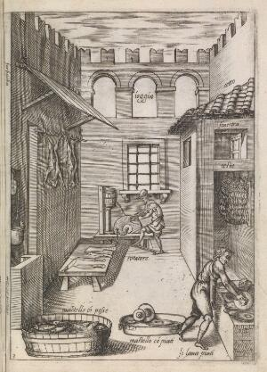 view Woodcuts of sixteenth-century Italian kitchens.