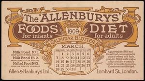 view Desk blotter advertising The 'Allenburys' milk and cereal food, Allen