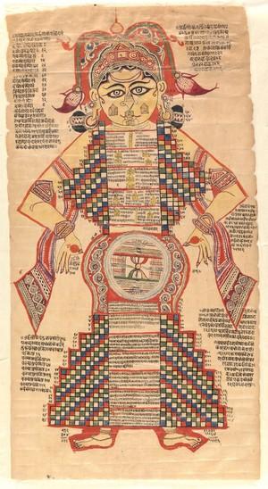 view Sanskrit Delta 82. Jain textile, 16th century.