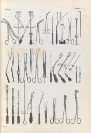 view Plate 22 bis. Surgical instruments for cleft palate.