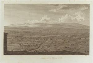 view The plain of Troy. Engraving by W. Skelton.