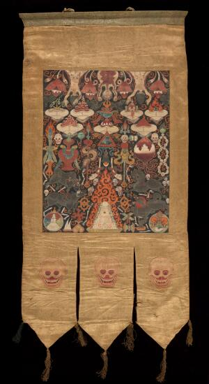 view Attributes of Brahma, Tantric Banner.