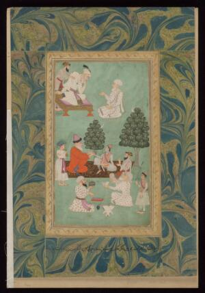 view Above, the emperor Aurangzeb consults a physician; below, one of the emperor's sons is attended by physicians. Gouache painting, 17--.