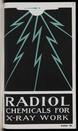view Radiol Chemicals for X-Ray Work. Watson and Sons, 1924.